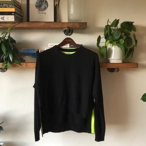 T Alexander Wang High Low Blk Crew Neck Sweater S